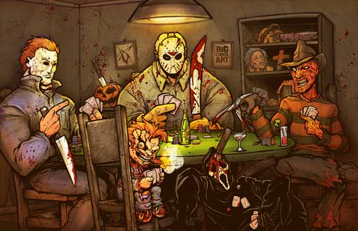 Figuras do poker nacional curtindo o halloween no poker - Scary movie 5 wallpaper ...
